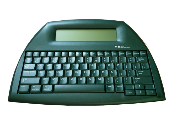 An Alphasmart Neo, in all it's technological glory.